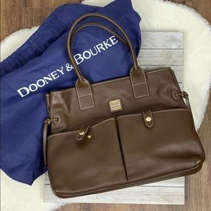 Dooney and Bourke Brown Leather Satchel Purse